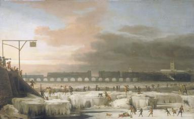 The Frozen Thames, 1677 by Abraham Hondius