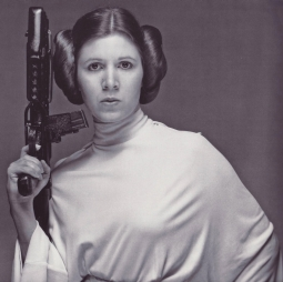 princess leia with a gun