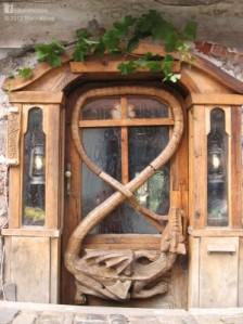 dragon door, latvian woodwork, japanese joinery at naturalhomes.org