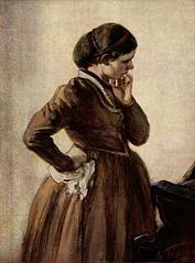 Now where did I put my wossname? Painting by Adolf von Menzel, although this is not its title.