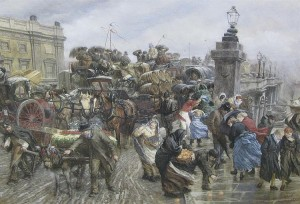 GODEFROY DURAND (b.1832) London Bridge, 1st May