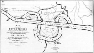 Thomas Reveley's proposed Thames cutting, 1796