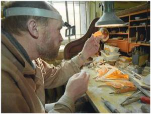 Amber carver of Leningrad