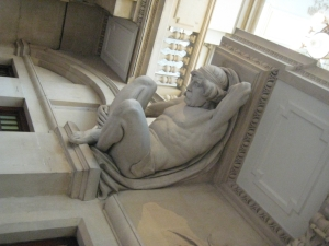 Reclining male nude, Bristol Art Gallery