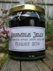 Home made bramble jelly, August 2014