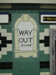 London - Way Out Sign