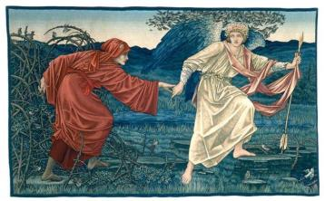 Love leading the Pilgrim (1909) by Sir Edward Burne-Jones, © Birmingham Museums and Art Gallery