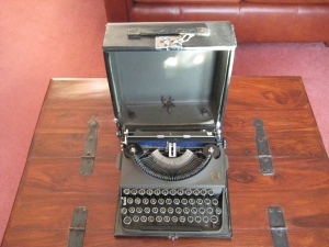 Vintage Typewriter with case