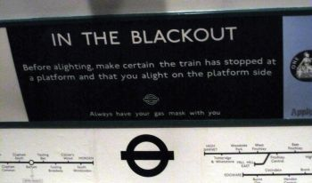 Blackout Poster on the London Underground