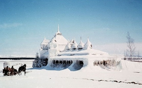 The frozen house in Dr Zhivago, actually filmed in Almeria