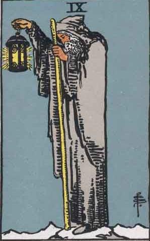 Pamela Colman Smith Tarot: The Hermit