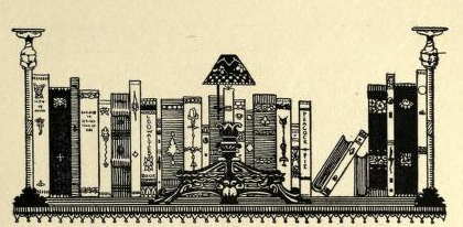 Illustration by Waltrich - a bookshelf with a variety of books