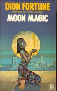 Book cover Dion Fortune Moon Magic woman in pharoah costume